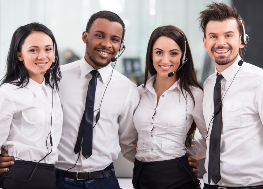 group of call center agents